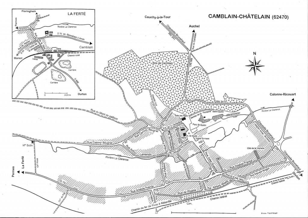 plan  Plan du village plan