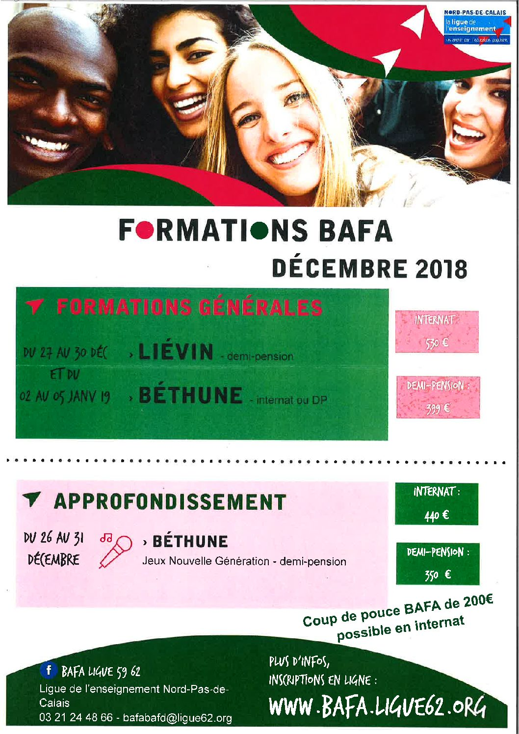 FORMATIONS BAFA DECEMBRE 2018