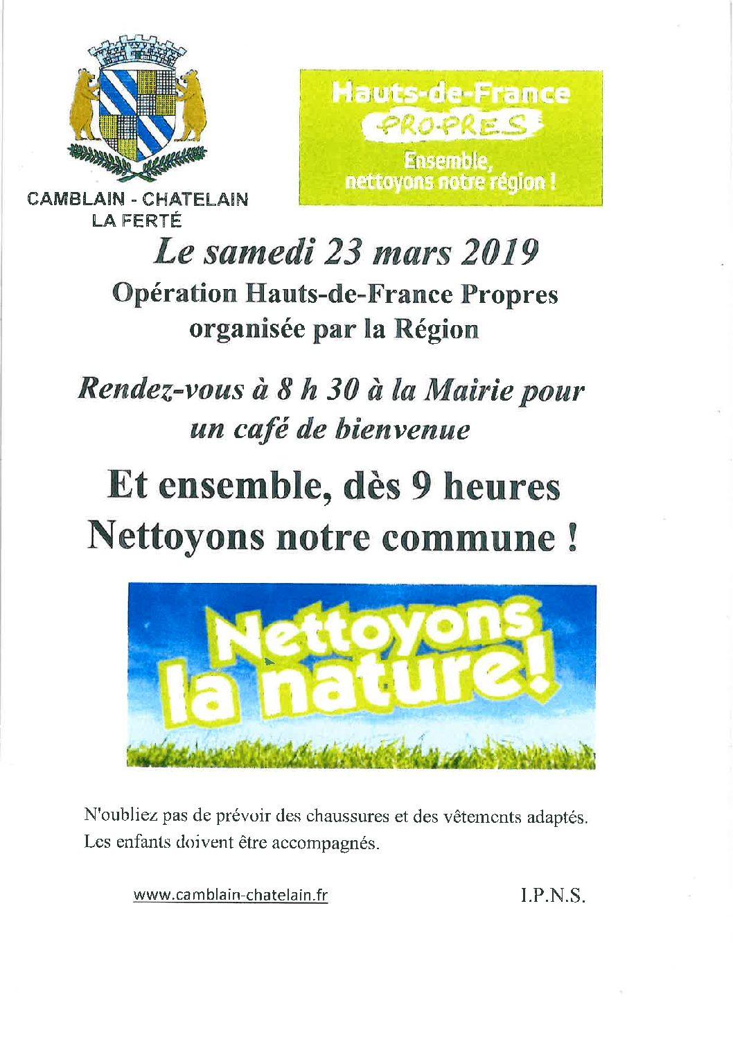 Opération Hauts-de-France Propres