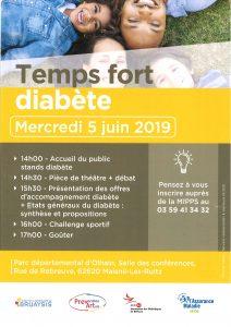 Temps fort diabète Mercredi 5 Juin 2019 au Parc départemental d'Ohlain 20190529140807 001