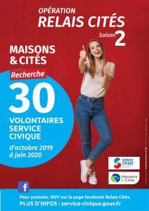 Maisons & Cités recherche 30 jeunes en service civique d'octobre 2019 à juin 2020 .....1ère réunion d'information des partenaires 2 AFFICHES SERVICE CIVIQUE MAISONS ET CITES 2019 1