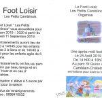 Le Foot Loisir «Les Petits Camblinois» vous accueillera pour la saison 2019 – 2020 à partir du mercredi 11 Septembre 2019