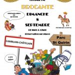 Dimanche 8 Septembre BROCANTE au Parc St Quirin organisée par l'association «Amis Canotiers à Vos Pinceaux»