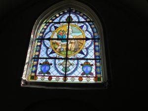Travaux à l'église changement du vitrail sept 2