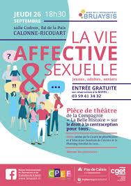 Le 26 septembre, soirée théâtrale autour de la contraception pour tous avec la MIPPS la vie affective et sexuelle bruaysis le 26 sept