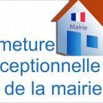 FERMETURE EXCEPTIONNELLE DE LA MAIRIE CE MARDI 15 OCTOBRE APRES-MIDI