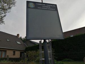 DES PANNEAUX D'INFORMATION ELECTRONIQUES photo panneau le rond point