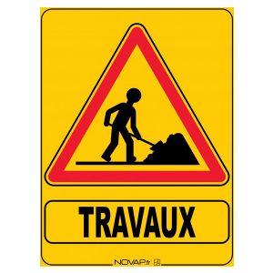 ATTENTION TRAVAUX PRÉVUS SUR LA DÉPARTEMENTALE D86 E2 - DIRECTION OURTON w0585 panneau chantier travaux z