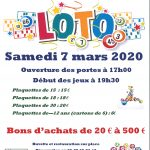 LOTO  – Samedi 7 Mars à 19h30 – Salle Féréol BELVAL – organisé par l'Harmonie «L'Avenir»