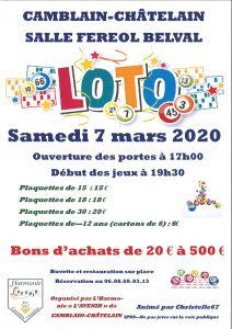 """LOTO - L'Harmonie """"L'Avenir"""" - SAMEDI 7 MARS 2020 20200121142727 001"""