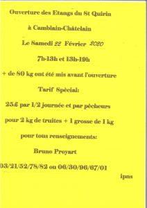 Ouverture des Étangs de St Quirin 20200131092805 001