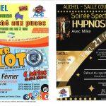 Soirée Spectacle Hypnose le 21 Février – Marché aux puces le 22 Février à AUCHEL