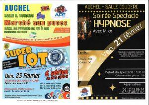 Soirée Spectacle Hypnose le 21 Février - Marché aux puces le 22 Février à AUCHEL 0001 2