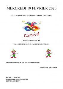 """MERCREDI 19 FÉVRIER  - CARNAVAL - Organisé par """" Les Ch'tis Footeux"""" Carnaval du 19 02 2020"""