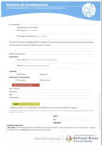 VENTES D'IMMEUBLES - INFORMATIONS GÉNÉRALES - ASSAINISSEMENT Demande de renseignements assainissement bethune bruay