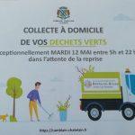 N'oubliez pas de sortir vos poubelles de déchets verts ce soir / la prochaine collecte: 29 mai 2020