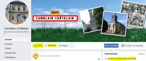 La page officielle de la mairie de Camblain-Châtelain page comment aimer
