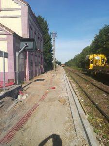 Reprise des travaux sur la ligne de train St Pol Béthune - Fermeture de passage à niveau GARE FERTE PA
