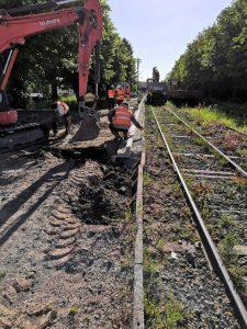 Reprise des travaux sur la ligne de train St Pol Béthune - Fermeture de passage à niveau Gare de la Fert   2