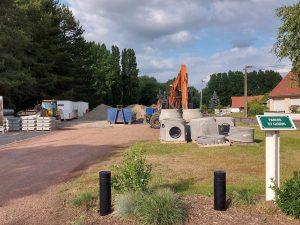Reprise des chantiers après le confinement: rue de Bourgogne d  marrage chantier Rue de Bourgogne