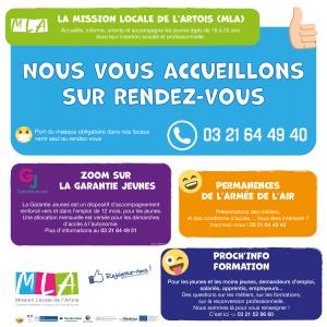 Tu as entre 16 et 25 ans, la mission locale de l'Artois est là pour toi Communication MLA Communes Septembre 2020 1