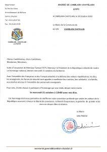 HOMMAGE A SAMUEL PATY - MERCREDI 21 OCTOBRE 2020 20201020164338 001