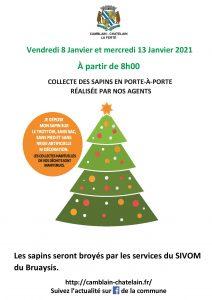 Ramassage de vos sapins de Noël A5 flyer collecte sapin 2021 1