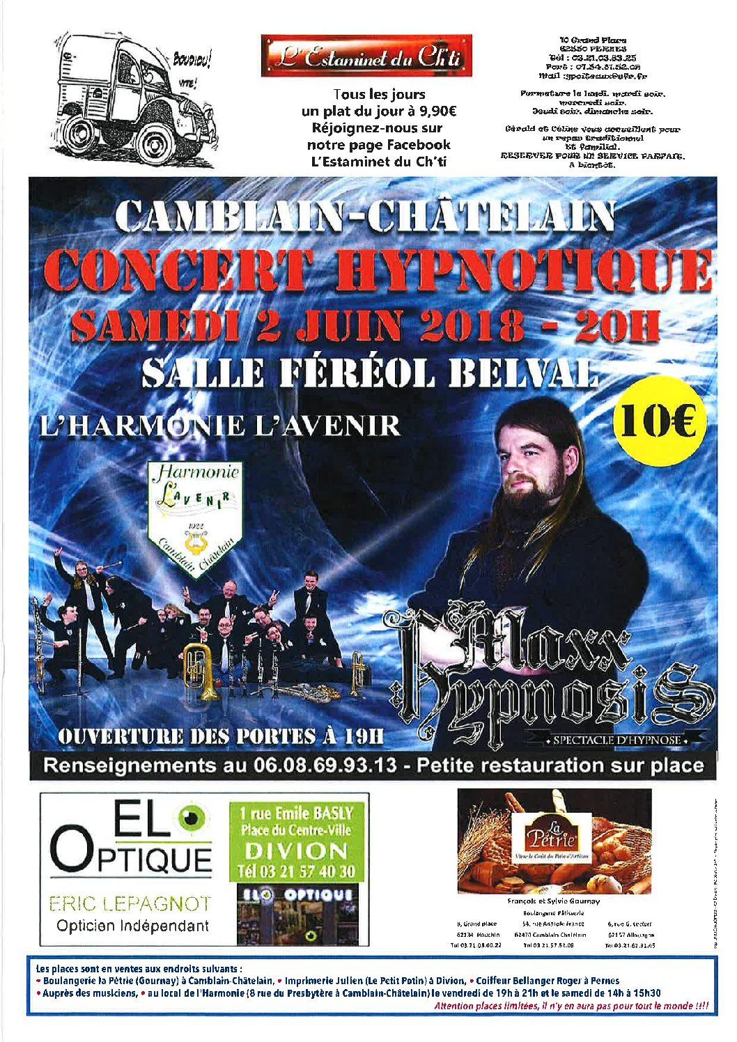 Concert Hypnotique avec MAXXHYPNOSIS