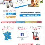 LA SEMAINE DE L'EMPLOI Á DOMICILE du 17 au 23 Juin 2019 dans les Hauts de France