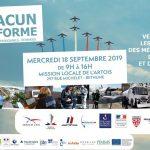 Forum des métiers de la Défense, de la Sécurité et de la Citoyenneté organisé par la Mission Locale de l'Artois à Béthune, mercredi 18 Septembre 2019 à 11H00