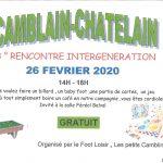 3 ème Rencontre Intergéneration le 26 Février de 14h00 à 18h00 organisé par l'association Le Foot Loisir  «Les Petits Camblinois»