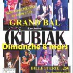 Grand Bal – Dimanche 8 Mars avec l'Orchestre C.KUBIAK  – Salle Féréol BELVAL
