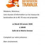 RÉUNION D'INFORMATION TRAVAUX – LA FERTÉ – MARDI 28 JANVIER À 18H00