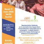 Défi Autonomie Seniors – Ciné Théâtre à AUCHEL – «Mon sommeil, je le surveille; Mon médicament, je le comprends»